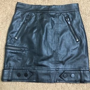 {Divided} H&M faux leather rock mini skirt 0